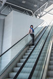 Escalator room with glass Royalty Free Stock Image