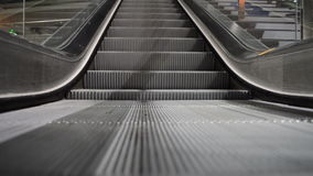 Escalator running down. At the train station in Berlin, Germany stock video