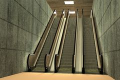 Escalator scene Royalty Free Stock Images
