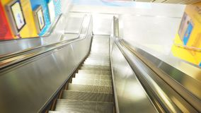 Escalator in selective focus. Escalator at MRT Train station Royalty Free Stock Images