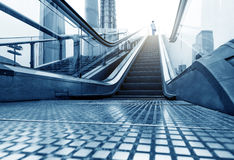 Escalator Shanghai Lujiazui streets Royalty Free Stock Images