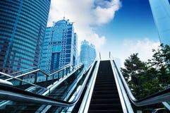 Escalator of Shanghai streets Stock Photos