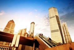 Escalator of Shanghai streets Royalty Free Stock Image