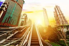 Escalator of Shanghai streets Stock Photography