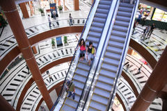 Escalator in a shop Royalty Free Stock Images