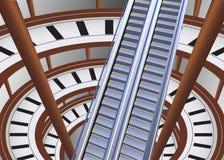 Escalator in shop Stock Photography