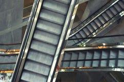 Escalator in shop Stock Photos