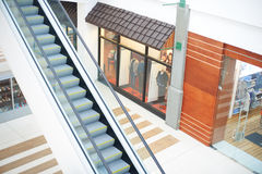 Escalator in shop mall Royalty Free Stock Image