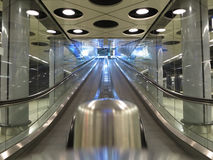Escalator in shop Royalty Free Stock Photography