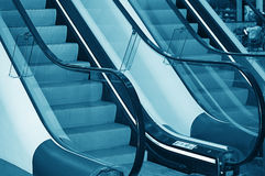 The escalator in shopping center Stock Photos