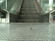 Escalator in shopping center stock footage