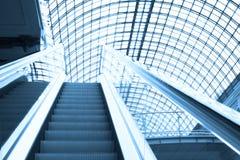 Escalator in shopping center, Moscow Stock Photos