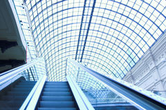Escalator in shopping center, Moscow Royalty Free Stock Photos