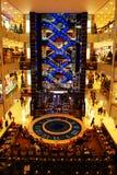 Escalator in shopping center. Moscow, modern design Royalty Free Stock Photo