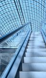 Escalator in a shopping mall Royalty Free Stock Photo