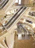 Escalator in shopping mall Royalty Free Stock Images