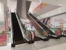 Escalator at Shopping Mall. The Da Men of Subang Jaya, Malaysia Stock Photos