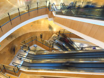 Escalator in a shopping mall Stock Image