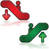 Escalator signs Royalty Free Stock Photo