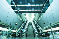 Escalator and stair Stock Image