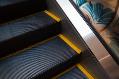 Escalator stair close up for danger accident concept Royalty Free Stock Photo