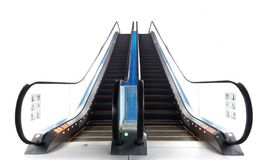 Escalator front view angle over white Royalty Free Stock Photo