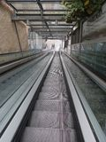 Escalator stair perspective stock photography