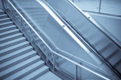 escalator and staircase Stock Images