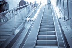 escalator and staircase Royalty Free Stock Photo