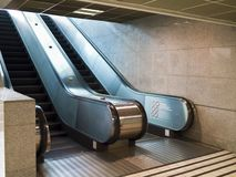 Escalator stairs Stock Photo