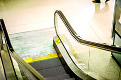 Escalator stairs at the airport. Escalator stairs at the  airport Royalty Free Stock Images