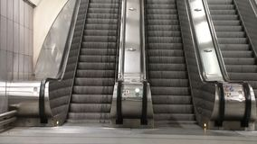 Escalator and stairs stock video