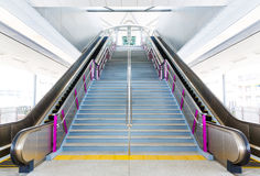 Escalator and stairs Royalty Free Stock Image