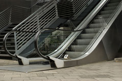 Escalator and stairway. Outdoor of the business building Stock Image