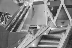 Escalator and stairway Royalty Free Stock Image