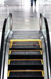 Escalator. Stairway inside modern business center Stock Photo