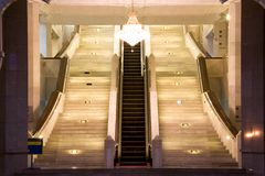Escalator and stairways Royalty Free Stock Photo