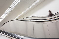 Escalator in station Royalty Free Stock Photos
