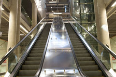 Escalator at Station Heumarkt in Cologne royalty free stock photography