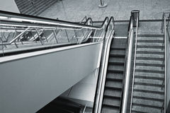 Escalator steps Stock Images