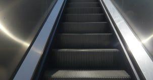 Escalators Going Up. An escalator steps rising upward stock video