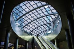 Escalator from street level in Tokyo, Japan stock image
