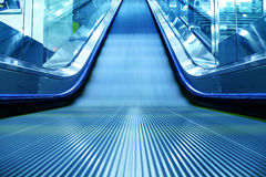 Escalator of the subway station Stock Photography