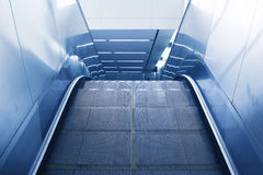 Escalator of the subway station. In Beijing Royalty Free Stock Photos