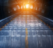 Escalator of the subway station. In Beijing Stock Photo