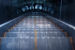 Escalator of the subway station. In Beijing Stock Images