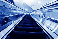 The escalator of the subway station Royalty Free Stock Image