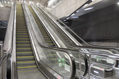Escalator in the subway station Royalty Free Stock Photos