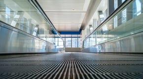 Escalator of subway station in Dubai. UAE - view from floor Stock Photo