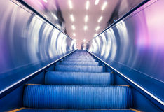 Escalator of the subway station Royalty Free Stock Photography